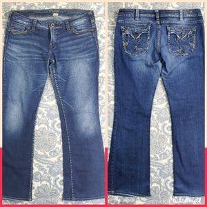 Silver brand Distressed Boot Cut Jeans 34